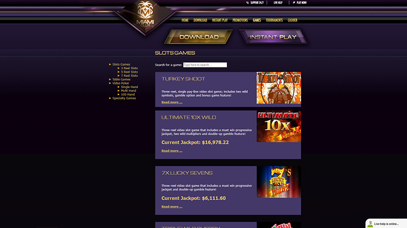 Miami Club Casino screen shot
