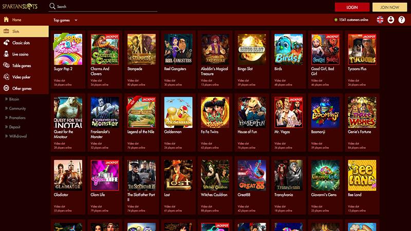Spartan Slots Casino slots