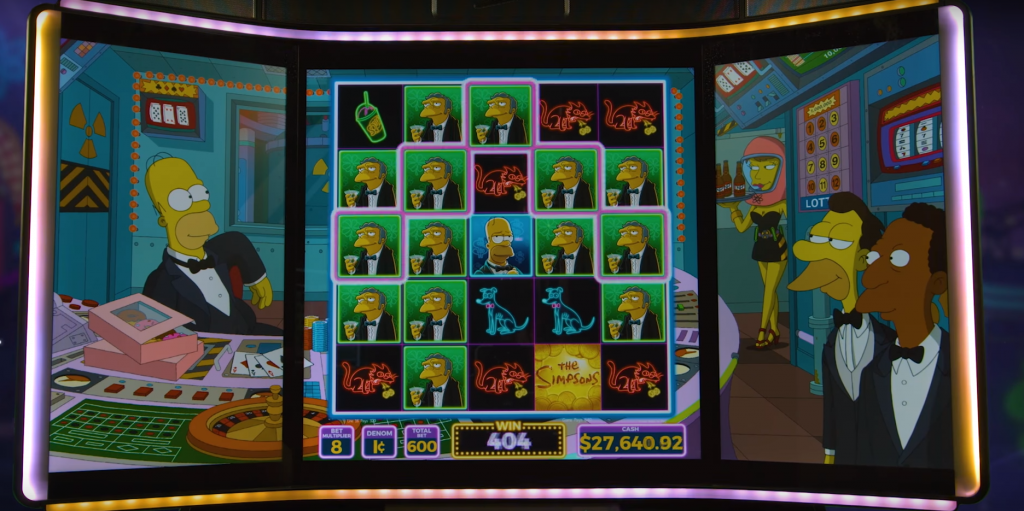 the simpsons slot gameplay
