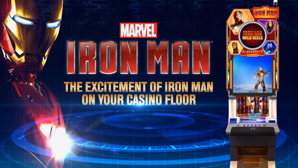 iron man deluxe slot logo