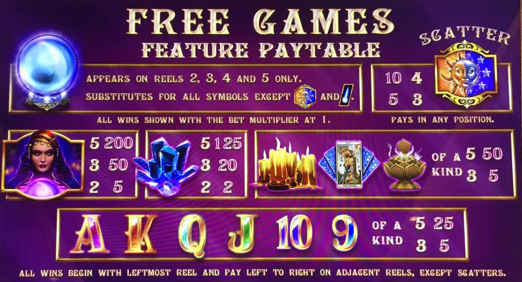 mystical crystals slot rules